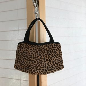 Manolo Blank evening bag in animal print calf hair